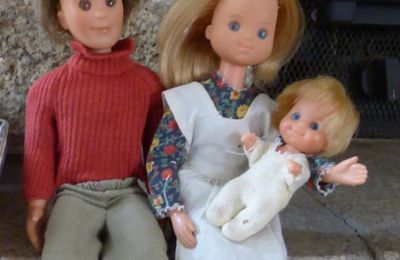 SUSHINE FAMILY DOLL'S MATTEL 1973