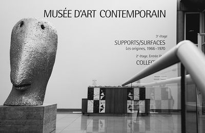 """SUPPORTS/SURFACES""Les Origines,1966-1970 EXPOSITION  CARRÉ D'ART NÎMES 30000"