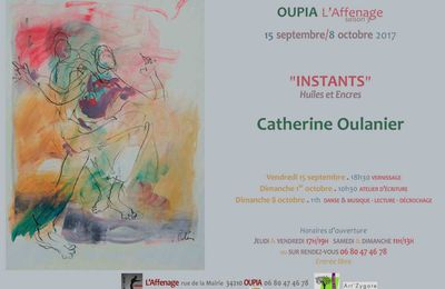 Exposition à l'Affenage à Oupia - 15 Septembre - 8 Octobre 2017