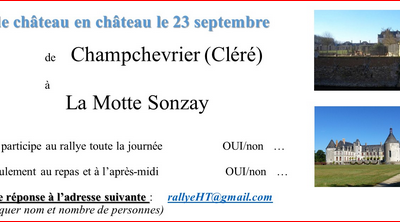 ... rallye, inscription ...
