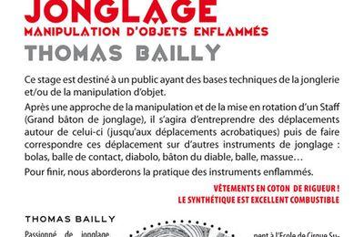 Stage Jonglage et Manipulations d'Objets Enflammés