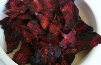 Chips de betterave rouge (au micro onde)