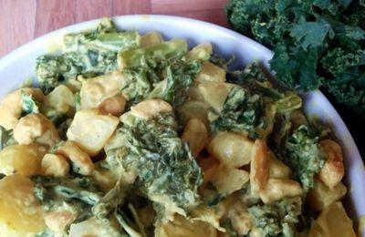 Curry de chou kale & pommes de terre