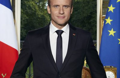 Le portrait officiel de Macron lu par Robert Liris