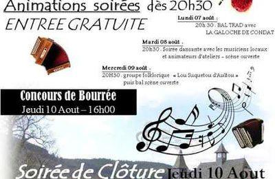 Stage de danses traditionnelles et Stages de musique à Chaumeil du 7 au 10 août 2017