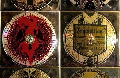 Inquisition, Septicflesh, Khonsu, Menace... CD labels