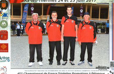 CHAMPIONNAT DE FRANCE PROMOTION  24/25 JUIN   AX LES THERMES