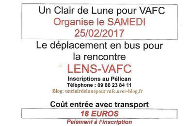 Rencontre LENS-VAFC à Lens le 25 02 2017