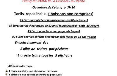 Journée de pêche du 24 06 2017 à Ferrière-la-Petite