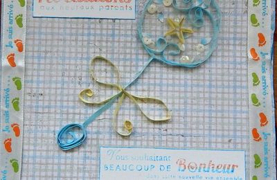 Quilling Shaker card.