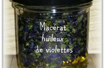 Extrait hydroglycériné et macérat huileux de violettes