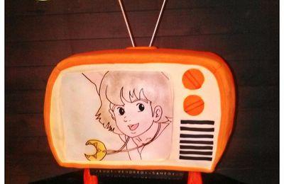 """Gâteau TV vintage """"Les Cités d'Or"""""""