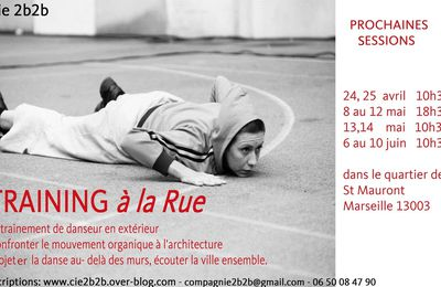 Reprise des Trainings à la Rue lundi!!