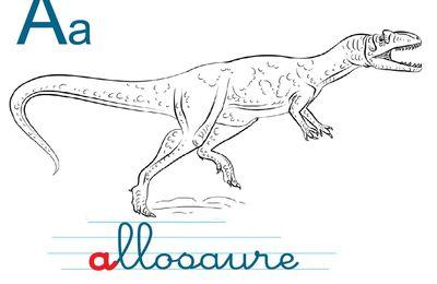 Voyelles à colorier dinosaure