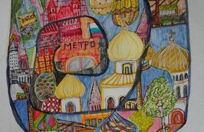 Moscou vue par l'artiste Anne-Cécile Makosso-Akendengué