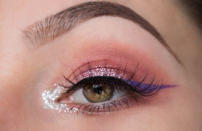 Sparkly Sunset Makeup
