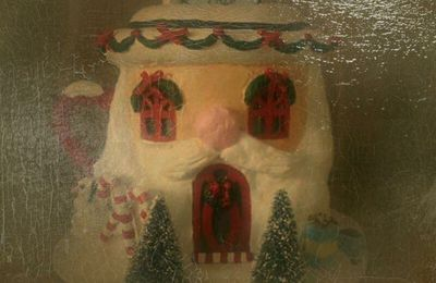 La Santa's Hot Cocoa de chez Dept 56 - Reproduction.