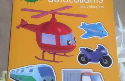 Autocollants Petit Soleil Les véhicules éditions Lito