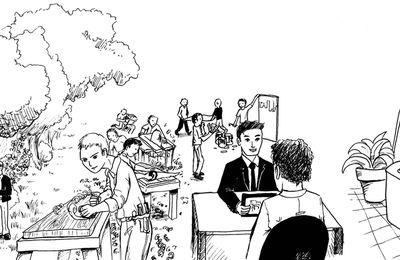 Mobilier de bureau : plaquette (exemple)