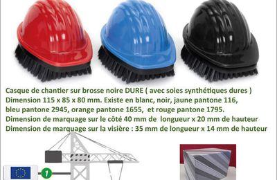 Brosse en forme de casque de chantier pour les habits et les chaussures - GO136-BRCAS