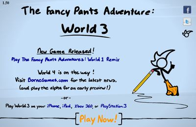 Fancy Pants 3 is a highly developed flash game