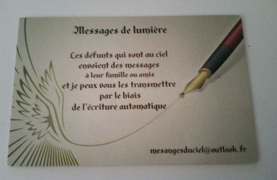 MESSAGES DE LUMIERE