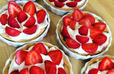 Les tartelettes aux fraises