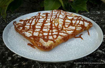 Gâteau invisible aux pommes nappé de caramel beurre salé recette facile au companion thermomix ou sans robot
