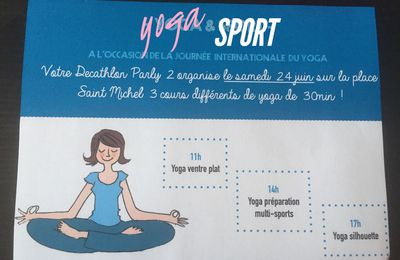 C'est la journée internationale du yoga !