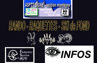 APPEL A BENEVOLE pour RANDOS ALPES PROVENCALES des 7 - 8 Octobre 2017