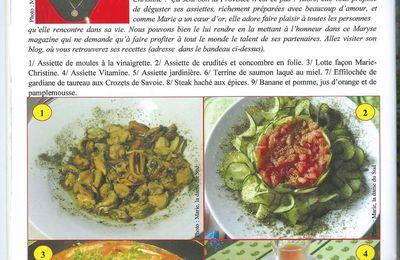 Maryse'Magazine n° 17 bis -  Les Assiettes de Marie... La Dame du Sud...