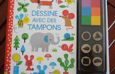 Activité manuelle enfant - Dessine avec des tampons aux Editions Usborne