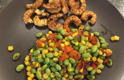 Edamame and Roasted Corn Succotash