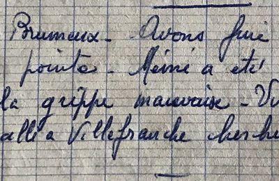 Dimanche 17 novembre 1957 - Mémé a la grippe mauvaise