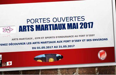 PORTES OUVERTES ARTS MARTIAUX, GYM et ENDURANCE AU FORT D' ISSY MAIS 2017