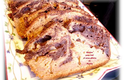 Gâteau marbré à la banane  Weight Watchers S/Gluten