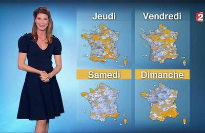 Chloé Nabédian Météo France 2 le 27.06.2017