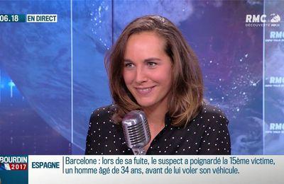 Anaïs Castagna Bourdin Direct RMC Découverte le 22.08.2017