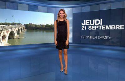 Gennifer Demey Météo M6 le 21.09.2017