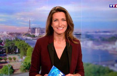 Anne-Claire Coudray JT 20H TF1 le 24.09.2017