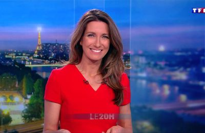 Anne-Claire Coudray JT 20H TF1 le 21.10.2017
