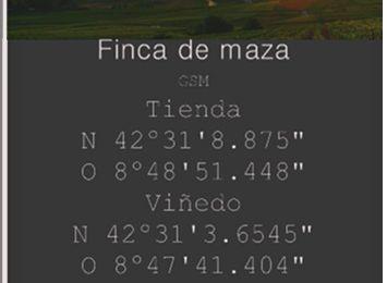 G.S.M LOCALIZACIÓN  TIENDA DE VINOS DE FINCA DE MAZA CAMBADOS-GALICIA- ESPAÑA