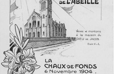La Chaux-de-Fonds - Souvenir de l'Inauguration du Temple de l'Abeille - 6 novembre 1904