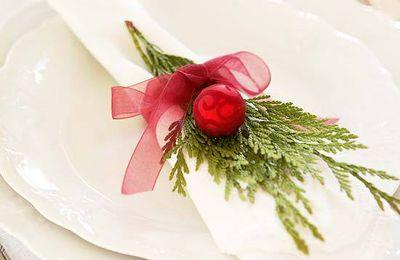 Rond de serviette pour votre table de Noël