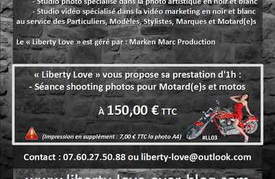 "LIBERTY LOVE (#LibertyLove #LL) (#TopPro2016) : Motard ?... Motarde ?...dites ""je t'aime à votre moto"""