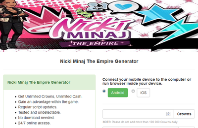Nicki Minaj The Empire Hack Cheats Tool