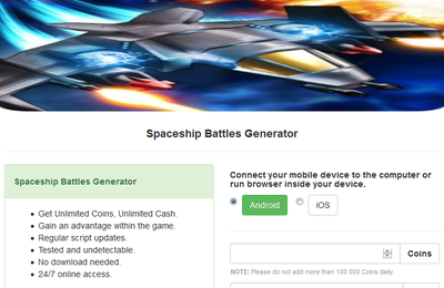 Spaceship Battles Hack Cheats Tool