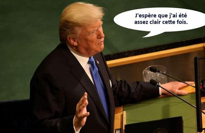Trump aux Nations unies.
