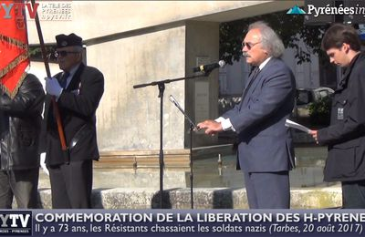 Commémoration de la Libération des Hautes-Pyrénées (20 août 2017) | HPyTv Tarbes