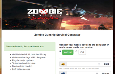 [Free] Zombie Gunship Survival Hack Cheats Tool